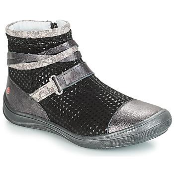 Schoenen Meisjes Laarzen GBB ROCHELLE Grijs / Zwart