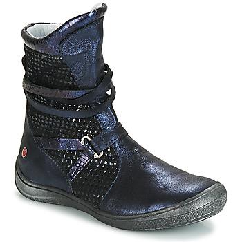 Schoenen Meisjes Hoge laarzen GBB ROSANA Blauw / Zwart