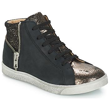 Schoenen Meisjes Hoge sneakers GBB CARLA Zwart / Brons