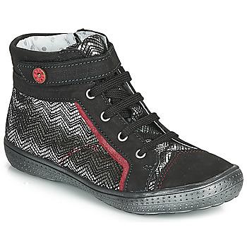 Schoenen Meisjes Hoge sneakers Catimini ROSIERE Zwart / Zilver
