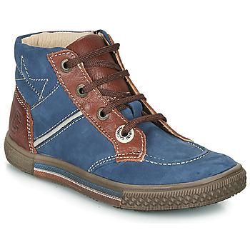 Schoenen Jongens Laarzen Catimini RUMEX Blauw / Bruin