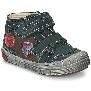 Schoenen Jongens Hoge sneakers Catimini ROMARIN Blauw / Bruin