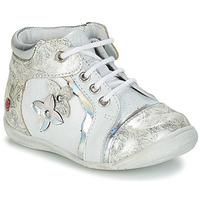 Schoenen Meisjes Laarzen GBB SONIA Wit / Zilver