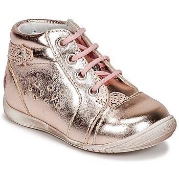 Schoenen Meisjes Hoge sneakers GBB SIDONIE Roze / Goud