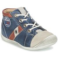 Schoenen Jongens Hoge sneakers GBB SILVIO Marine / Bruin