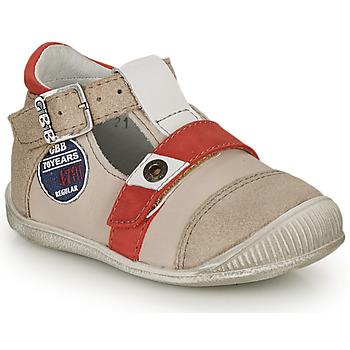 Schoenen Jongens Sandalen / Open schoenen GBB STANISLAS Vtc / Beige - rood / Dpf / Raiza