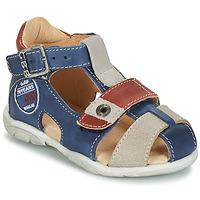 Schoenen Jongens Sandalen / Open schoenen GBB SULLIVAN Blauw / Beige / Bruin