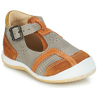 Schoenen Jongens Sandalen / Open schoenen GBB SIGMUND Taupe / Cognac