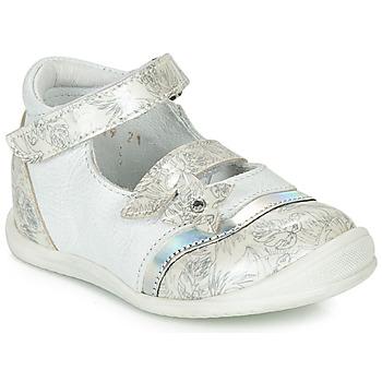 Schoenen Meisjes Ballerina's GBB STACY Wit / Zilver