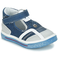 Schoenen Jongens Sandalen / Open schoenen GBB SALVADORE Vte / Marine - wit / Dpf / Times