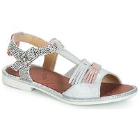 Schoenen Meisjes Sandalen / Open schoenen GBB MARIA Zilver / Wit