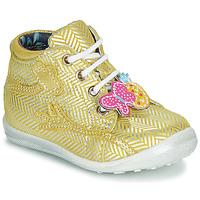 Schoenen Meisjes Hoge sneakers Catimini SALAMANDRE Geel