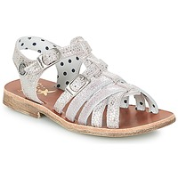 Schoenen Meisjes Sandalen / Open schoenen Catimini SAULE Zilver / Roze