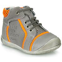 Schoenen Jongens Laarzen Catimini SEREVAL Grijs / Oranje