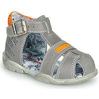 Schoenen Jongens Sandalen / Open schoenen Catimini SPHINX Nus / Grijs  oranje / Fluo / Dpf / Filou