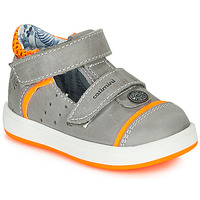 Schoenen Jongens Sandalen / Open schoenen Catimini SAUTERIAU Nus / Grijs  oranje / Fluo / Dpf / 2921