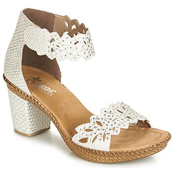 Schoenen Dames Sandalen / Open schoenen Rieker BELALIER Wit