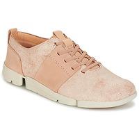 Schoenen Dames Lage sneakers Clarks TRI CAITLIN Roze