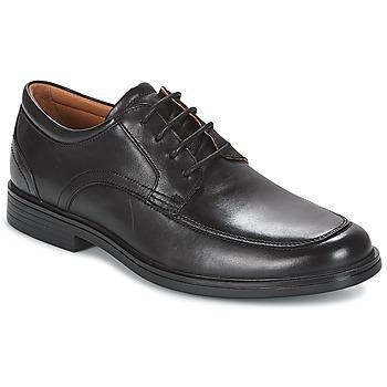 Schoenen Heren Derby Clarks UN ALDRIC PARK Zwart