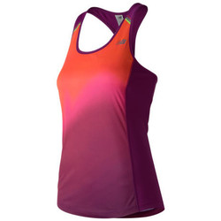 Textiel Dames Mouwloze tops New Balance Ice Printed Tank Roze