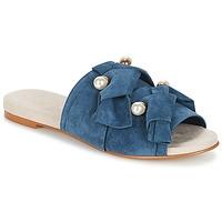 Schoenen Dames Leren slippers KG by Kurt Geiger NAOMI-BLUE Blauw