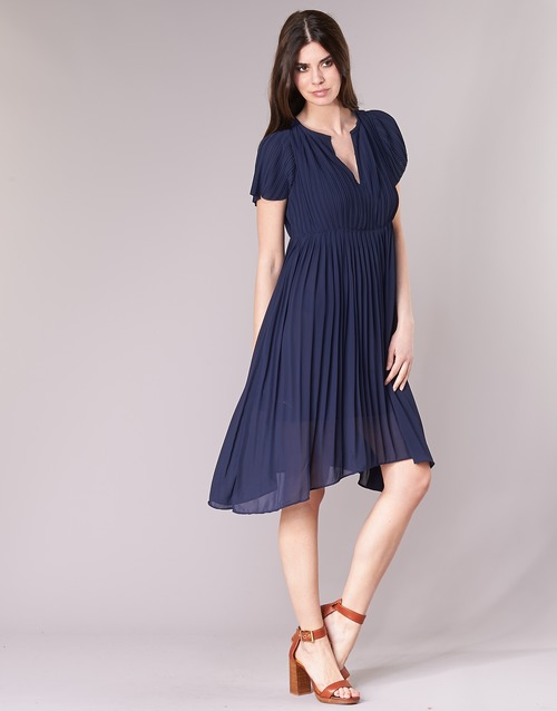 See U Soon 8121119 Marine - Gratis levering  Textiel Korte jurken Dames