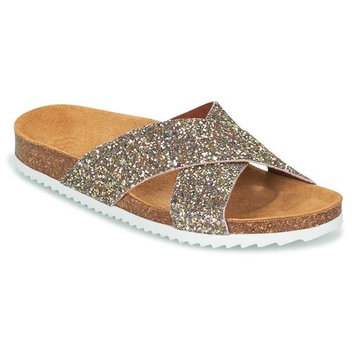Schoenen Dames Leren slippers Le Temps des Cerises FALONE Glitter