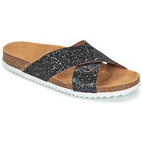 Schoenen Dames Leren slippers Le Temps des Cerises FALONE Zwart