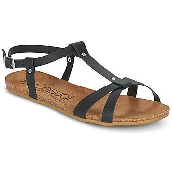 Schoenen Dames Sandalen / Open schoenen Casual Attitude IPLEM Zwart