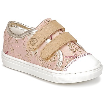 Schoenen Meisjes Lage sneakers Citrouille et Compagnie JORDANIA Roze / Goud