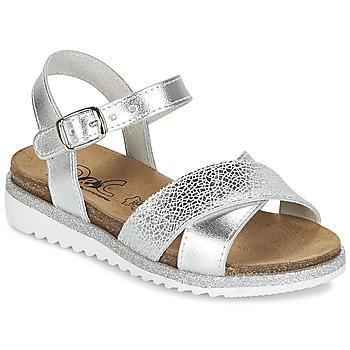 Schoenen Meisjes Sandalen / Open schoenen Citrouille et Compagnie GAUFRETTE Zilver