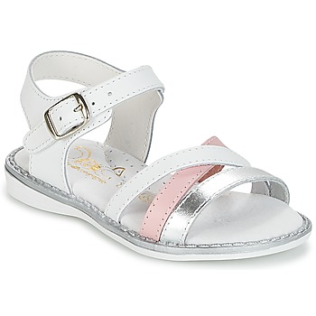 Schoenen Meisjes Sandalen / Open schoenen Citrouille et Compagnie IZOEGL Wit / Zilver / Roze
