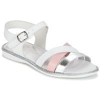 Schoenen Meisjes Sandalen / Open schoenen Citrouille et Compagnie IZOEGL Wit / Roze / Zilver