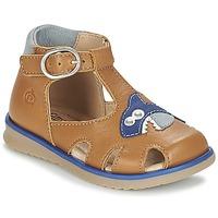 Schoenen Jongens Sandalen / Open schoenen Citrouille et Compagnie ISKILANDRO Bruin / Blauw