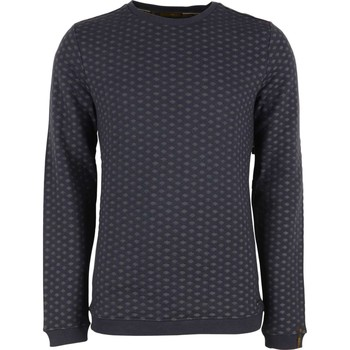 Textiel Heren Truien No Excess Sweater r-neck, yd stripe dots Blauw
