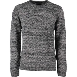 Textiel Heren Truien No Excess Pullover r-neck, twisted Grijs