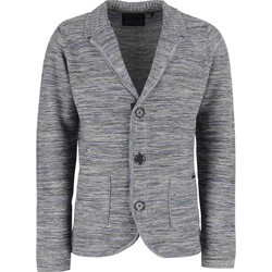 Textiel Heren Vesten / Cardigans No Excess Blazer knitted 3col twisted rever grey Grijs