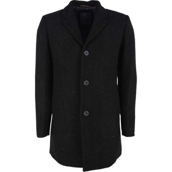 Textiel Heren Mantel jassen No Excess Jacket long fit melange wool black Zwart