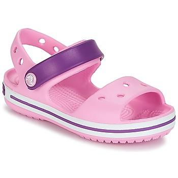 Schoenen Meisjes Sandalen / Open schoenen Crocs CROCBAND SANDAL Rood / Roze / Paars