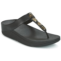 Schoenen Dames Teenslippers FitFlop ROKA TOE-THONG SANDALS Zwart