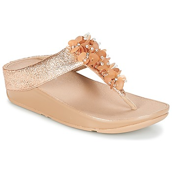 Schoenen Dames Teenslippers FitFlop BOOGALOO TOE POST Roze / Goud