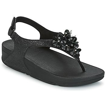 Schoenen Dames Sandalen / Open schoenen FitFlop BOOGALOO BACK STRAP SANDAL Zwart
