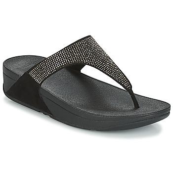 Schoenen Dames Teenslippers FitFlop SLINKY ROKKIT Zwart