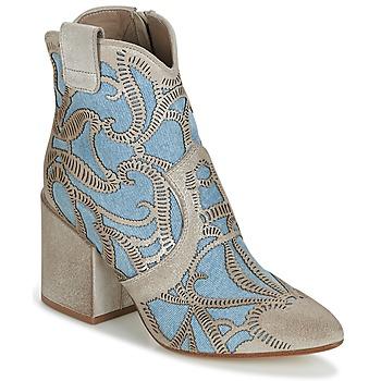 Schoenen Dames Enkellaarzen Now MOVIDA Beige / Jeans
