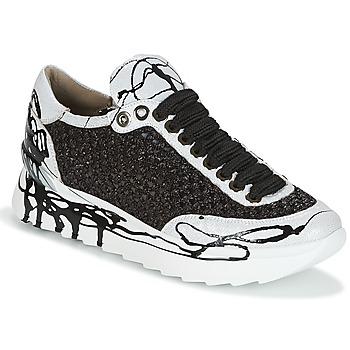 Schoenen Dames Lage sneakers Now CARK Zwart / Wit