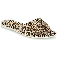 Schoenen Dames Leren slippers Lola Ramona COCCO Luipaard
