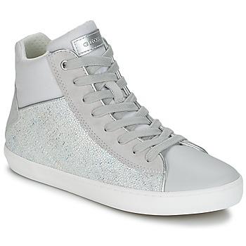 Schoenen Meisjes Hoge sneakers Geox J KILWI G. H Grijs / Zilver