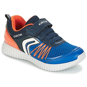 Schoenen Jongens Lage sneakers Geox J WAVINESS B.C Marine / Oranje