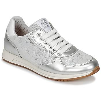 Schoenen Meisjes Lage sneakers Geox J JENSEA G. D Grijs / Zilver