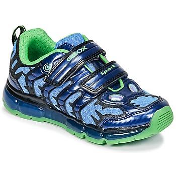 Schoenen Jongens Lage sneakers Geox J ANDROID B. B Marine / Groen